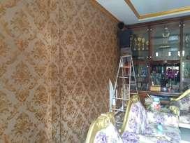 Jual wallpaper dinding dan terima jasa pasang wallpaper