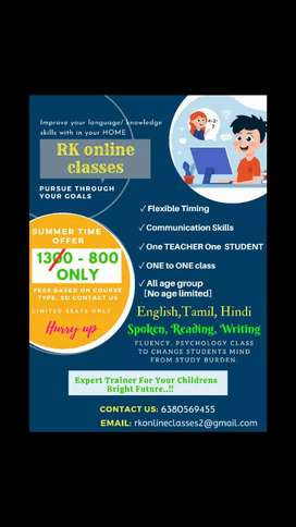 Online class for all age groups