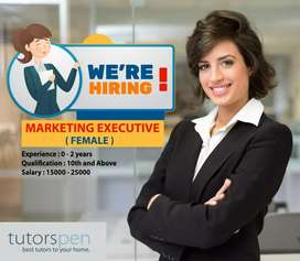 Marketing Executive wanted (Ladies)