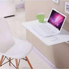 Meja lipat dinding - meja laptop - rak