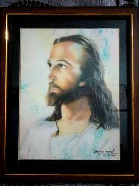 Jesus Pencil Art Work