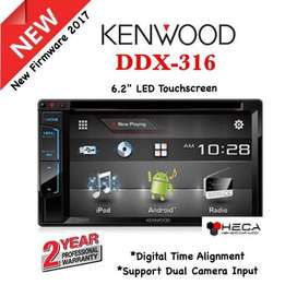 KENWOOD DDX-316 Head Unit Double din Tape Audio Mobil | FAJAR MOBIL