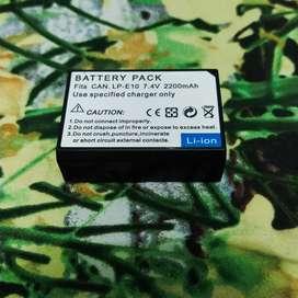 Baterai Canon 1100d,1200d,1300,