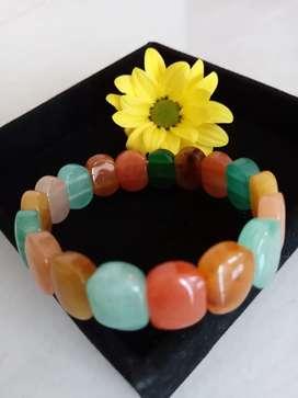 Gelang batu agate warna