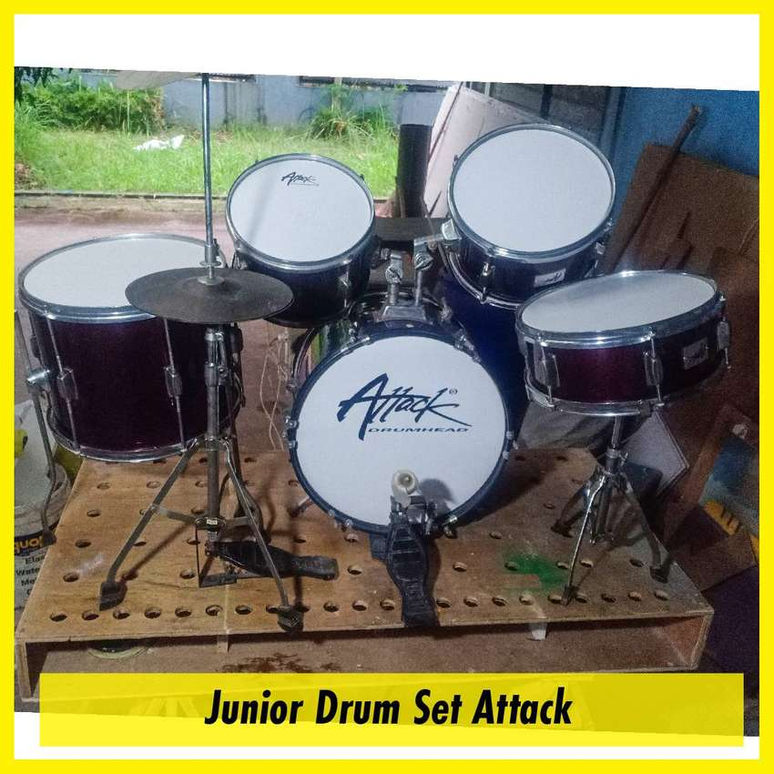 Drum Set Junior Attack Kondisi Bagus (bekas)