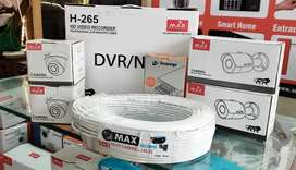 Max 4 Cameras CCTV Kit 1080p Full HD