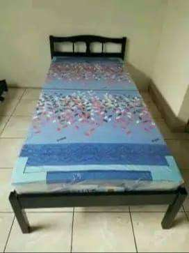 satu set ranjang single + kasur ukuran 90*200 cm single bed