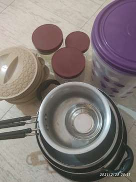 Utensil and container sets for urgent sale(Shifting house)