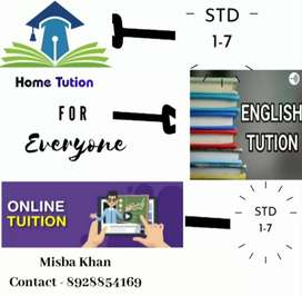 I take Online / Home tuition available STD 1-7 all boards