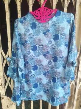 Preloved Atasan wanita / baju biru murah