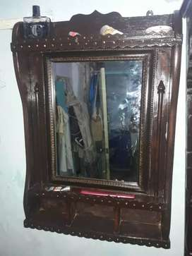 Antique  dewar geer wall mirror frame with polish with glass fixed..