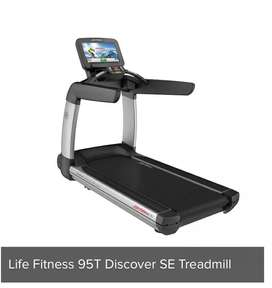 Life fitness treadmill 95T discovery SE series slightly used