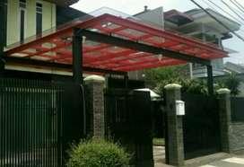 Canopy kaca teras rumah