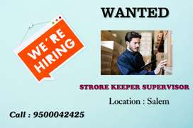 Wanted Storekeepers Supervisor