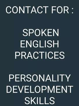 Contact me for Spoken English Practice or Personality development skil