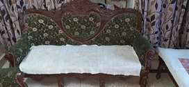 it is an antic piece and vary condition well maintained unique sofa