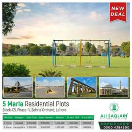 5 Marla Plots On Installments in Bahria Orchard