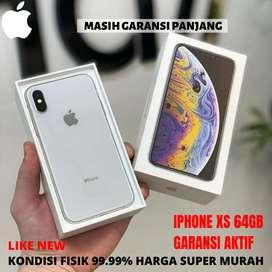 Iphone xs 64gb fullset masih garansi panjang
