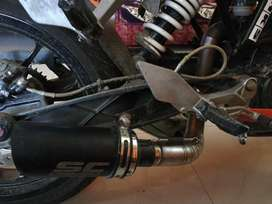 Aftermarket sc project  1st copy full system exhaust for ktm duke 200