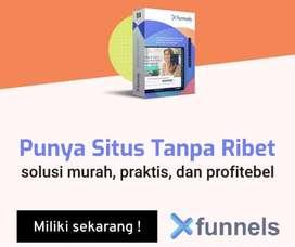 XFunnell, Aplikasi membuat website, landing page dan funnel