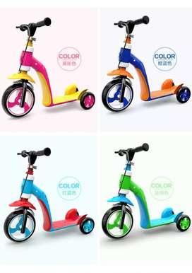 Skuter Converter 2in1 Sepeda  Anak Lucu