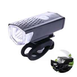 Lampu sepeda LED usb 300 lumens (300 LM) charger-lampu dpn USB charge