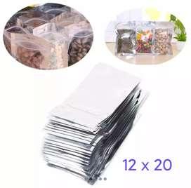 Plastik display ziplock aluminium
