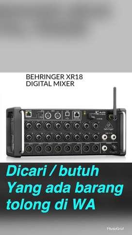 BUTUH mixer digital behringer