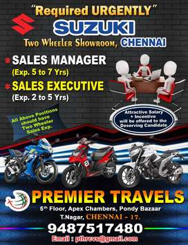 Urgently Required - Sales Manager & Sales Executive