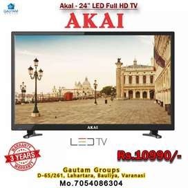 AKAI 24inch FULL HD LED TV 3 YEAR WARRANTY GST PAID GAUTAM GROUPS