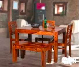 Brand New Dining Table Set with 3 Chairs & 1 Bench