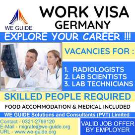 RADIOLOGISTS & LAB SCIENTISTS Required for Germany - Male & Female
