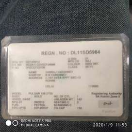 Bajaj Pulsar 150 DTSi **DL reg.**Single hand used