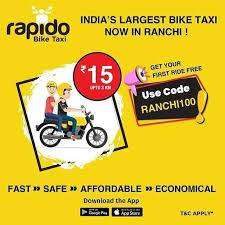 join a Rapido  bike rider job location in indore