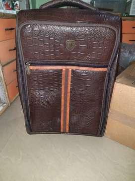 Bukaro leather trolly bag