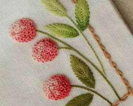 Home teaching Hand Embroidery learning class