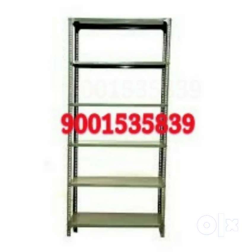 Newww branded full size iron rack with six self book rack 0