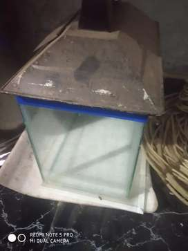 Aquarium glass with heater and filter pump new condition