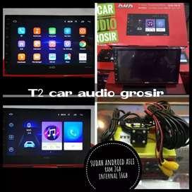 Tercanggih 2din android asli DHD ram 2gb Internal 16gb 7inc+camera hd