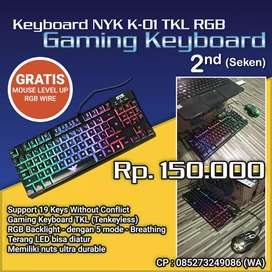 keyboard NYK - K01 2nd GRATIS Mouse Level Up RGB wire 2nd