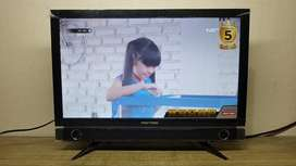 LED TV Polytron 22 Inch Layar Bening Fullset USB Movie Support No Min