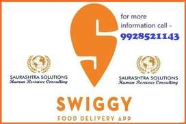 3000 delivery boy's required in SWIGGY