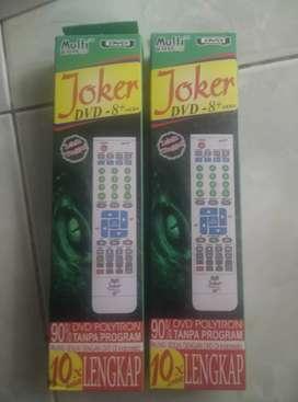 Remote Multi Joker DVD 8+ super lengkap cocok semua merek dvd