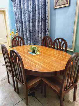 Chinioti Dining Set with 6 Chairs