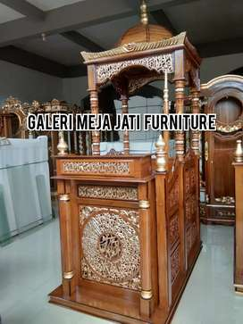 Mimbar masjid talk Wood natural