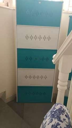 Shoe Rack  (  blue colour )