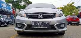 Honda Brio Satya E CVT 2018 Silver Mulus banget
