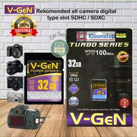 Memory Kamera V Gen SD CARD 32GB Class 10 Turbo Memori Kamera Original