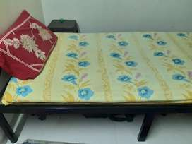 Iron single bed bought 6 months back -excellent condition