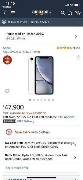IPhone XR 64 ...5 days old